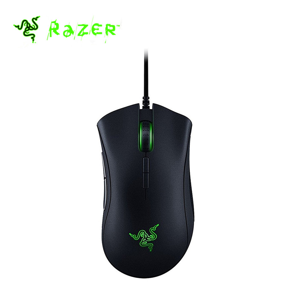 Razer DeathAdder Elite Wired Gaming Mouse 16000DPI Optical Sensor Ergonomic USB wired Gaming Mouse razer taipan usb 2 0 wired 8200dpi dual sensor system laser gaming mouse black 200cm cable