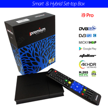 Digital-Verbindungsstück-Unterstützung DVB-S2 + DVB-T2 / Kabel / ISDB-T + IPTV Android Fernsehkasten Ipremuim i9