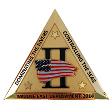 New design triangle shape metal coin hot sale engraving gold coins