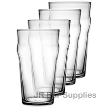 Free Shipping 4PCS 570ML British Style Imperial Pint Glass Beer Glasses Set of 4