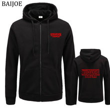 BAIJOE Hot Sale Stranger Things Hooded Mens Hoodies and Sweatshirts for Autumn with Hip Hop Winter Hoodies Men Hooded Brand clot(China)
