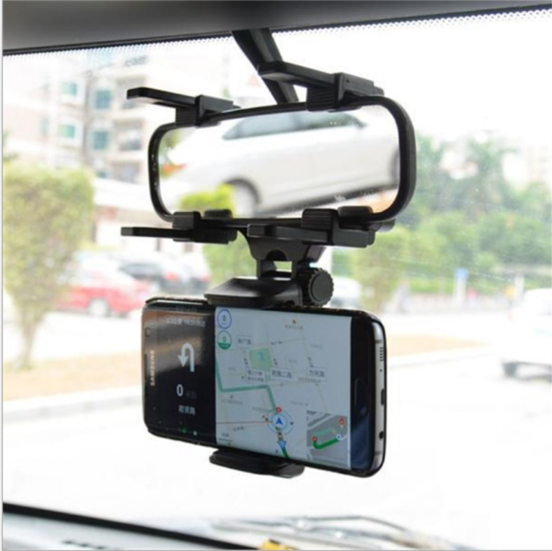 Universal 360 Degrees Car Rearview Mirror Mount Phone Holder Mobile Phone Holder Stands For GPS Smartphone / By Dhl 200pcs