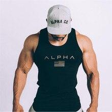 99e7f2f2db474 Nova verão Musculação Regatas algodão academias de fitness colete masculino  Sem Mangas Sling camisa undershirt mens