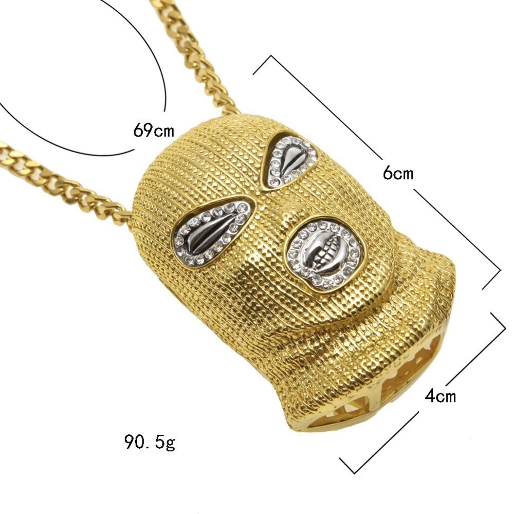 Bling bling Goon Maske Kopf Anhänger mit Hiphop-kette Hip Hop Necklace Pendant