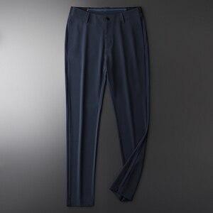 Image 2 - Minglu Sommer Herren Hosen Luxus Business Mode Elastische Herren Anzug Hosen Hight Qualität Elastische Bund Dünnen männer Hosen