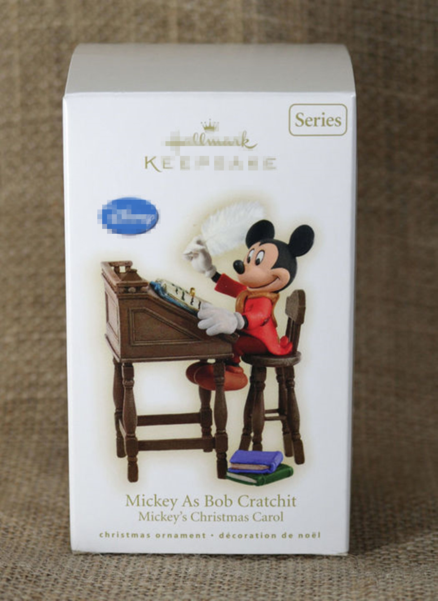 1pcs original mickey as bob cratchit mickey's christmas carol collection figure with color box packing a christmas carol and other christmas writings