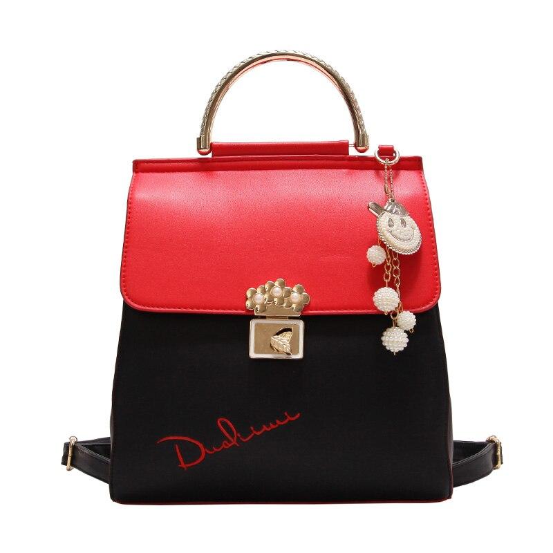 2017new Fashion Women Backpack High Quality Youth Leather Backpacks for Teenage Girls Female School Shoulder Bag Bagpack mochila 1