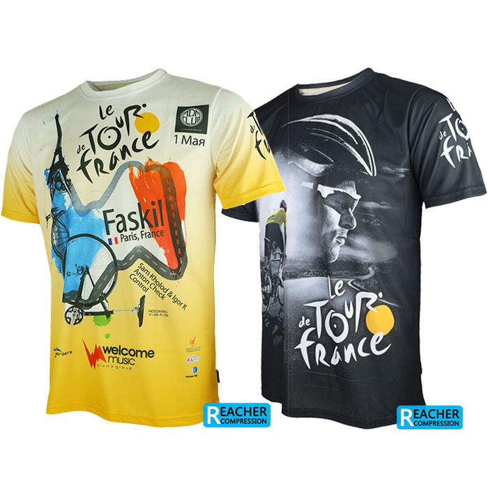 где купить Tour de France men cycling bike bicycle quick dry breathable jerseys shirts short sleeves jerseys дешево