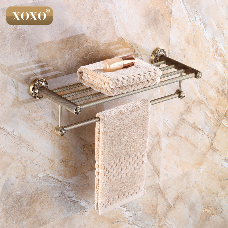 Reproduction Vintage Bath Towels: XOXOSolid Brass Vintage Style Bathroom Towel Rack Antique