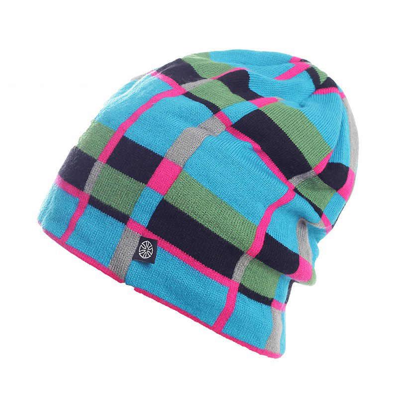 SN.SU.SK kış geri dönüşümlü Snowboard kayak pateni sıcak örme kap kasketleri yapış Slouch Skullies Bonnet şapka Gorro erkekler kadınlar için
