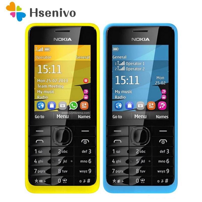 301 Original Nokia 301 Unlocked WCDMA 2.4`` Dual SIM Cards 3.2MP Mobile