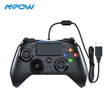 цена на Mpow Wired Gamepads Game LED Light Gamepads Controller USB Gamepad With And Trigger Bottouns Gamepads For PS4/PS3/Win/Android TV