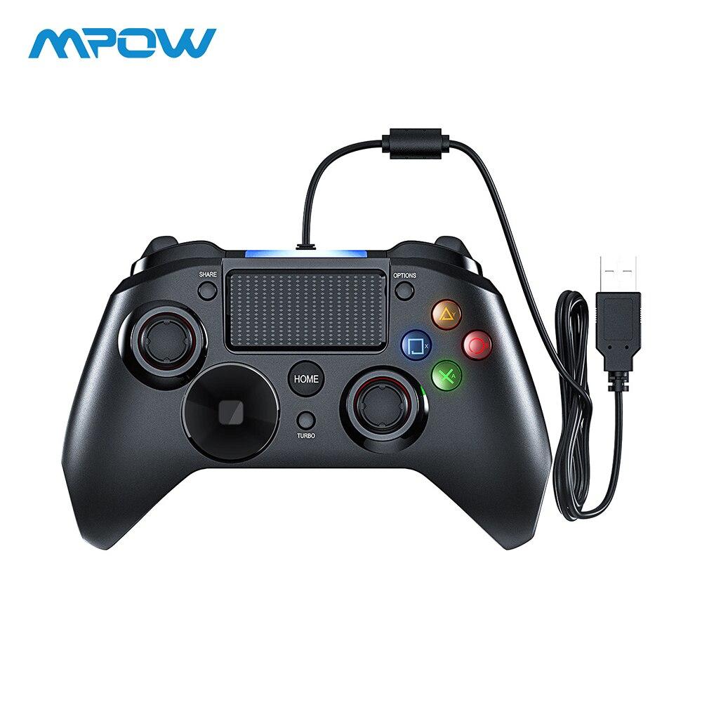 Mpow prendido gamepads jogo luz led gamepads controlador usb gamepad com e gatilho bottouns gamepads para ps4/ps3/win/android tv