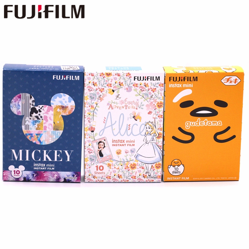 30 Fogli Fujifilm Fuji Instax Mini 8 9 mickey mouse + Alice Film + Gudetama Per 7 8 9 50 s 7 s 90 25 Share SP-2 Fotocamere Istantanee