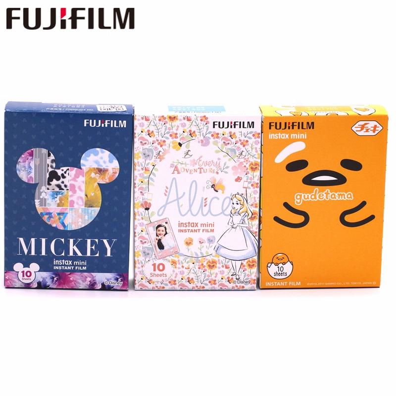 30 feuilles Fujifilm Fuji Instax Mini 8 9 mickey souris + Alice Film + Gudetama Pour 7 8 9 50 s 7 s 90 25 Partager SP-1 2 Appareils Instantanés
