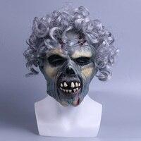 무서운 해골 마스크 공포 물결 모양의 머리 악마 얼굴 악마 멋진 파티 할로윈 마스