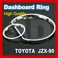 Navio livre para Toyota Chaser JZ X90 1992 1996 Cromo Anéis de Cluster Cromo Anéis Calibre Cromo Dashboard ABS