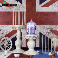 Visual Touch Europe Birdcage Candle Holder Stand TeaLight Lantern Home Wedding Decoration Gift Antique White