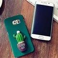Мода 3D Кактус Pattern Case Жесткий PC Phone Случаи Задняя Крышка для Samsung Galaxy S6 A5 2015