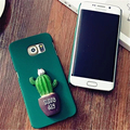 Fashion 3D Cactus Pattern Case Hard PC Phone Cases Back Cover for Samsung Galaxy S6 A5 2015