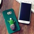 Moda 3d patrón de cactus case cajas del teléfono de la contraportada dura de la pc para samsung galaxy s6 a5 2015