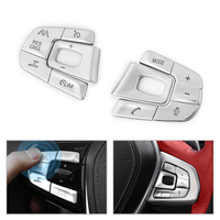 Car Styling ABS Chrome Steering Wheel Buttons Cover Trim For BMW 5 Series 2018 525 528 530 540li M Sport / Luxury Type
