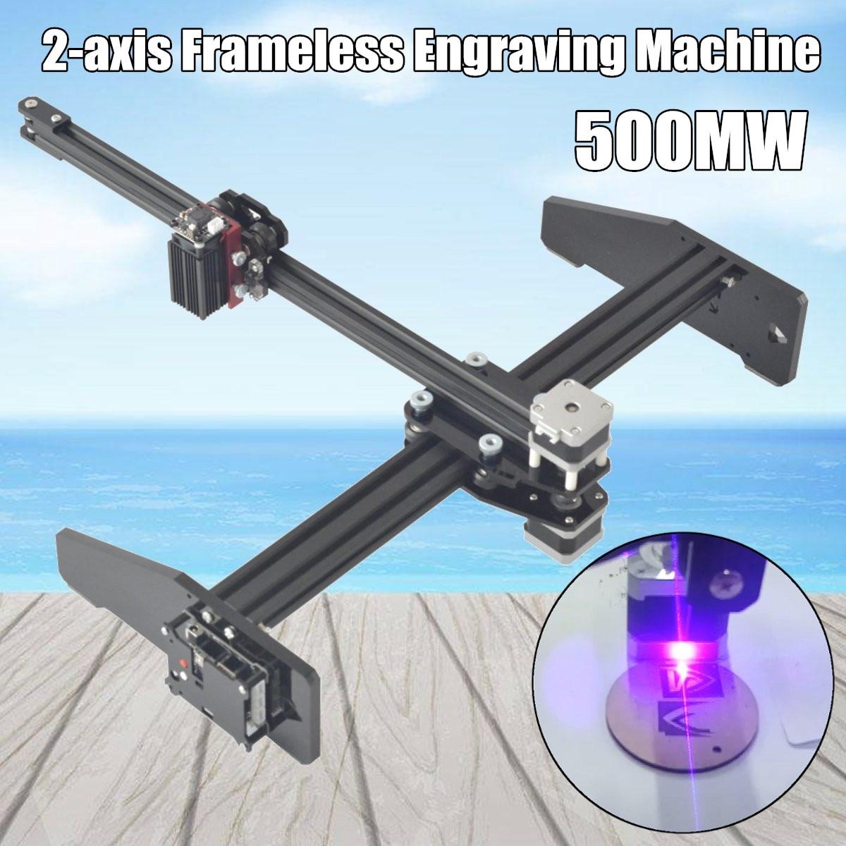 500MW 2 Axis Laser Engraving Machine Cutting Engraver CNC Logo Printer Machine DIY Laser Engraver Machine Wood Router diy mini laser machine 6040 6090 small laser cutting machine 60w laser engraver for wood