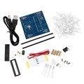 3D LED Свет Squared 4*4*4 Синий Красный Луч СИД Кубик DIY Плата PCB Kit Набор Оптовая