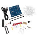 3D LED Light Squared 4*4*4  Blue Red Ray LED Cube DIY PCB Board Kit Set Wholesale