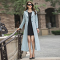 2016 Autumn New Fashion Solid Color Female Trench S-4XL Plus Size Turn Down Collar Outwear Long Sleeve Casual Trench Overcoat
