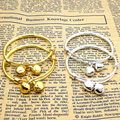 2PCS baby bell adjustable bracelet bracelet plated silver plated gold Kid Baby Boy Girls Bracelet jewelry Birthday Gift
