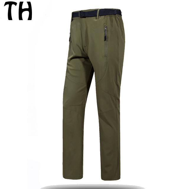 Primavera Verano Delgado Pantalones Casuales Hombres Pantalon Homme Elástico Transpirable de secado rápido Pantalones Largos #161768