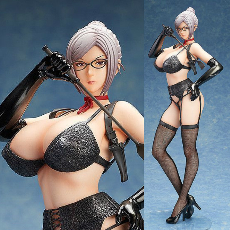 2019 New Anime Figure Action Prison School Shiraki Meiko Figure Underware Stockings 41cm 1/4 B-style Pvc Model Sexy Adult Doll