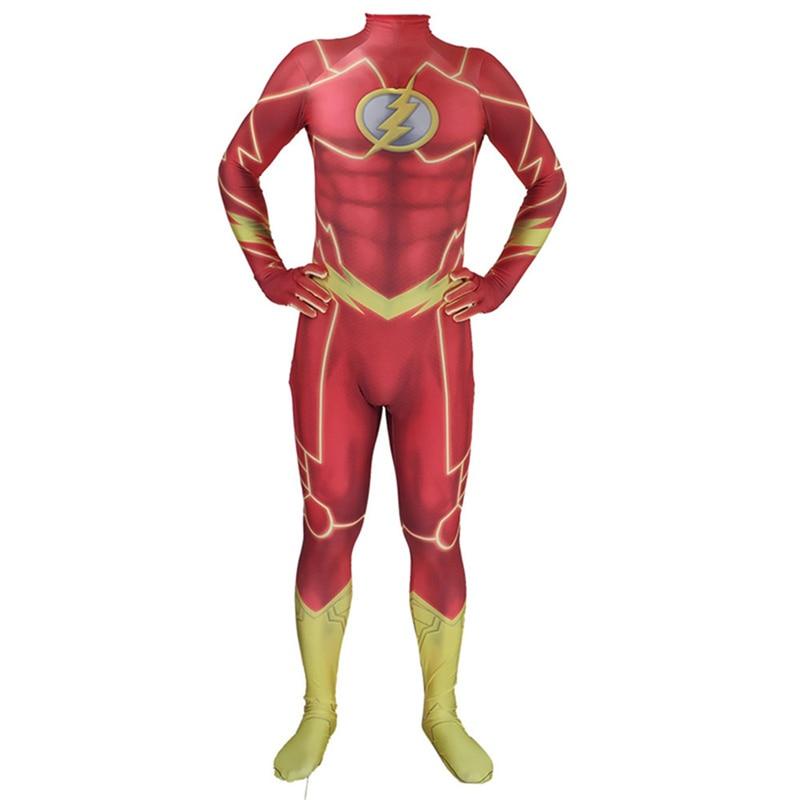 Adult The Flash Flash Man Anime Costume Marvel Flash Costume Children's Light Man Tights Halloween Wear