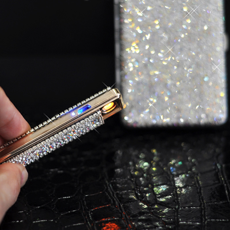 Shiny-Crystal-Diamond-Ms-20-Cigarette-Case-Charging-Windproof-Plasma-Lighter-Slim-Metal-Lightweight-Cigarette-Box (2)