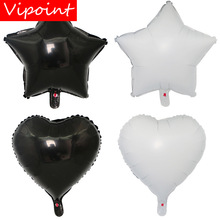 VIPOINT PARTY 18inch black white star love heart foil balloons wedding event christmas halloween festival birthday party HY-16 vipoint party love heart gridding and 5inch latex balloons wedding event christmas halloween festival birthday party hy 379