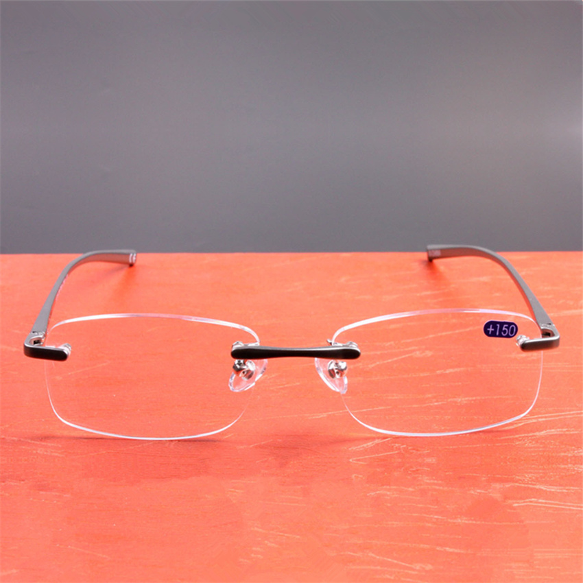648daf7d06 Eyesilove hombres mujeres metal plegable gafas de lectura lentes de cristal  gafas de lectura plegable presbicia