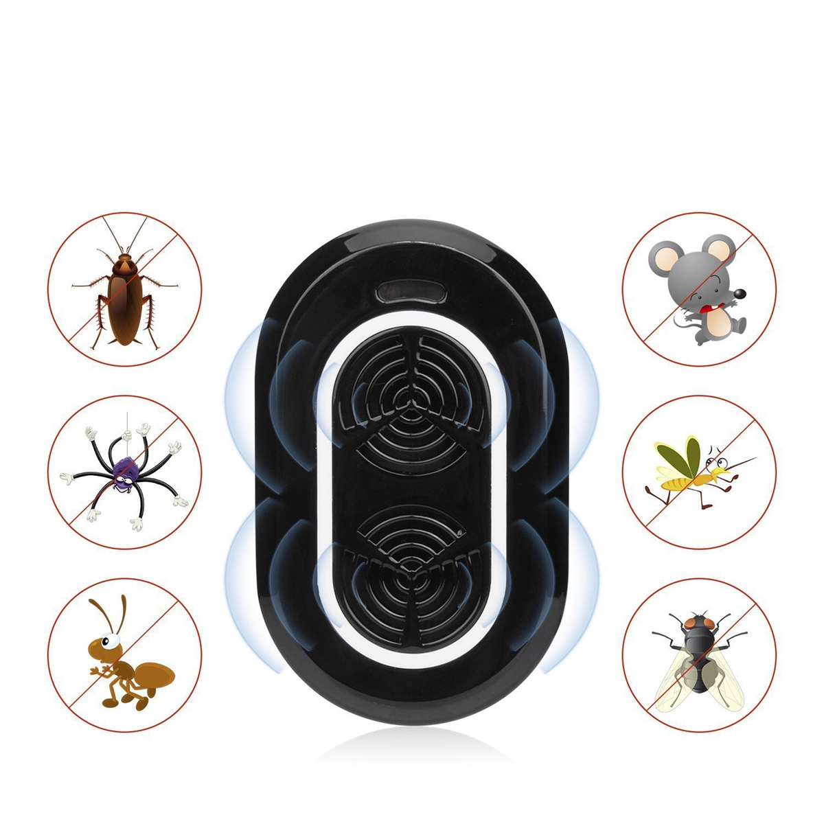 High Quality Ultrasonic Pest Repeller Electronic Pests Control Repel Mouse Bugs Mosquitoes Killer for Kids Baby Care Elder Adult ultrasonic pest repeller electronic mouse control tool