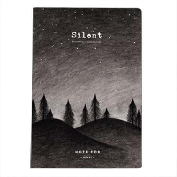 Note for silence creative notebook 12.5*18.5cm 80 pages blank sheets office school journal sketchbook giftGlen
