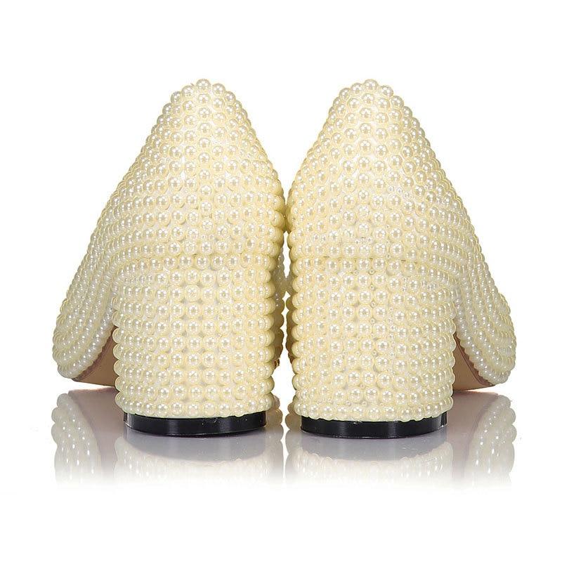 Femmes De À Talons 20170636 Taille Mariage Pompes Perle Chunky Chaussures Femelle 41 Mariée Hauts Dame Pointu Élégante Drfargo Apricot Bout qpSgwg