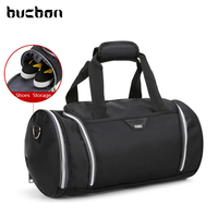 Bucbon 2017 New 18L Convenient Cylindrical Gym Fitness Bag With Shoes Compartment Men Women Sports Duffle