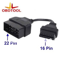 ObdTooL for Toyota 22Pin to 16Pin OBD Adapter to OBDII Connector for Toyota 22 Pin ODB2 16 Pin Cable for Corolla Rav4