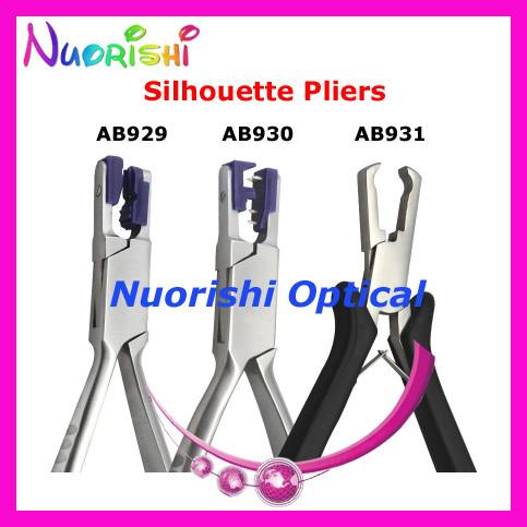 Óculos de armação sem aro silhouette alicate alicate AB929 AB930 AB931