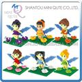 Mini Qute WTOYW DR.STAR Kawaii Game Butterfly Fairies Diamond plastic building blocks movie cartoon model educational toy