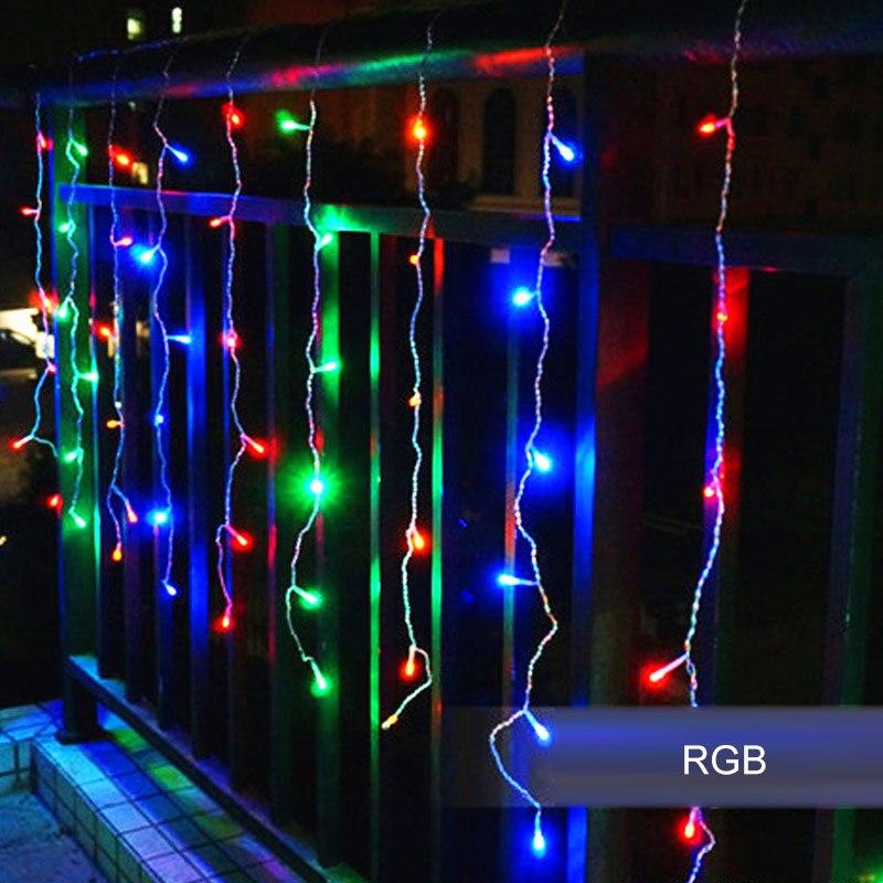 4M 96 LEDS 220v / 110v AC LED chaîne vacances lumière de Noël pour - Éclairage festif - Photo 6