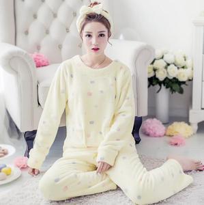 Image 5 - Fdfklak Large size flannel pajamas for women warm autumn winter pajama set cute cartoon sleepwear pijama new pyjama femme M 2XL