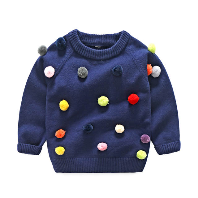 461197690f40 Online Shop Tem Doger 2017 winter kids sweater balls design baby ...