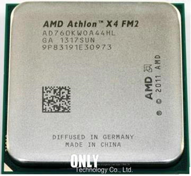 Free Shipping AMD X4 760K Quad-Core FM2 3.8GHz 4MB 100W CPU Processor Pieces X4-760 (working 100%)