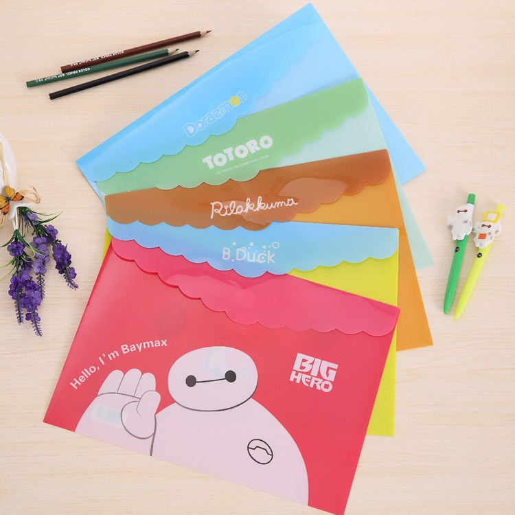 12 Styles Cartoob Folder Cute Mini File Bag Document Manila Stationery Filing Products School Office Supplies In From