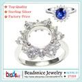 Beadsnice ID27359 RESULTADOS de la joyería de plata anillo de ajuste de bricolaje anillos semi montaje configuración de anillo redondo